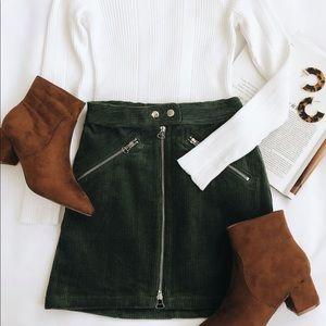 Dresses & Skirts - ◖ Olive Green Wool Skirt ◗